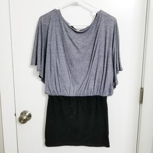 Derek Heart Grey & Black Flowy Tunic